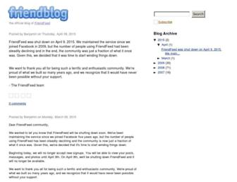Thumbshot of Friendfeed.com