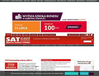 Main page screenshot of satkurier.pl