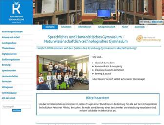 Main page screenshot of kronberg-gymnasium.de