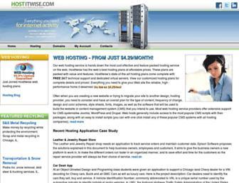 hostitwise.com screenshot
