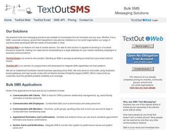 textoutsms.com.au screenshot