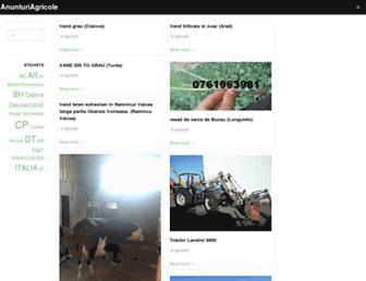 Main page screenshot of anunturiagricole.net