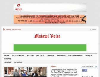 malawivoice.com screenshot