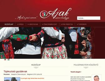 Main page screenshot of ajak.hu