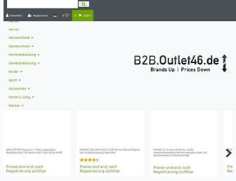 b2b.outlet46.de screenshot