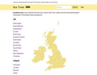 bustimes.org screenshot