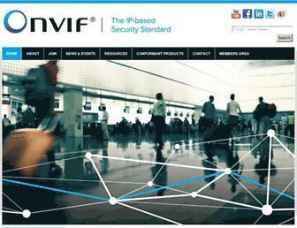 onvif.org screenshot