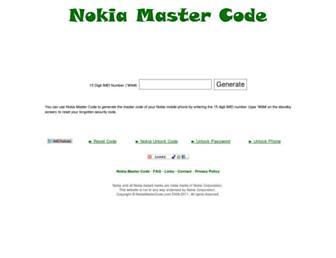 nokiamastercode.com screenshot