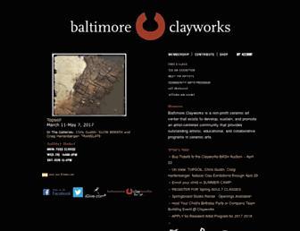 Main page screenshot of baltimoreclayworks.org