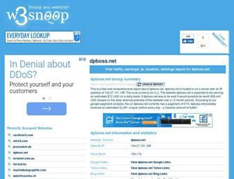 dpboss.net.w3snoop.com screenshot