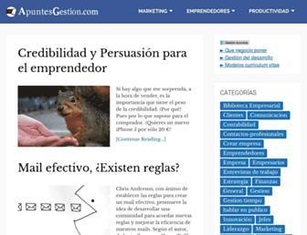 apuntesgestion.com screenshot