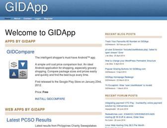 gidapp.com screenshot