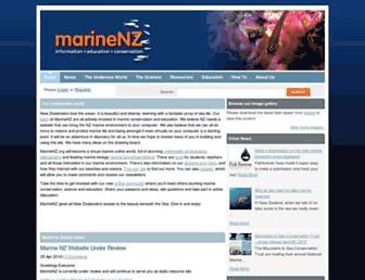 Main page screenshot of marinenz.org.nz