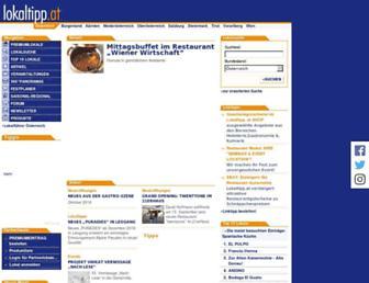 Main page screenshot of lokaltipp.at