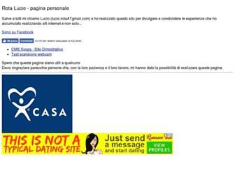 Main page screenshot of luciorota.altervista.org