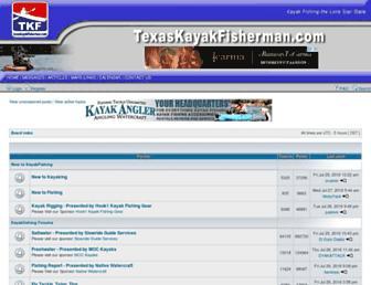 texaskayakfisherman.com screenshot