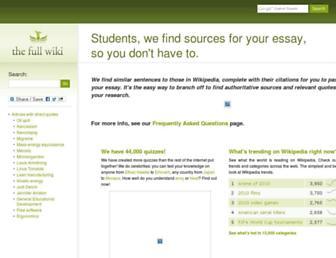 Main page screenshot of thefullwiki.org