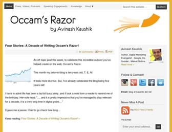 Main page screenshot of kaushik.net