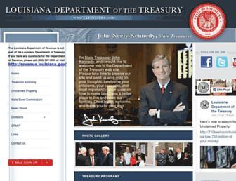 treasury.state.la.us screenshot