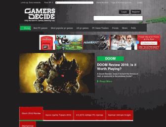gamersdecide.com screenshot