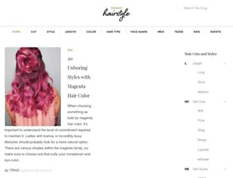 therighthairstyles.com screenshot