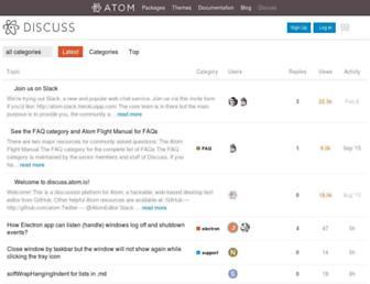 discuss.atom.io screenshot