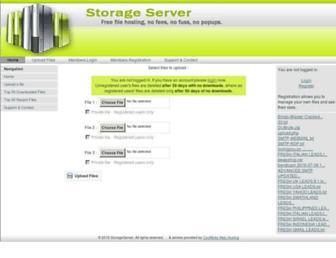 storageserver.co.uk screenshot
