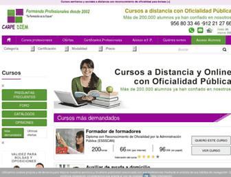 formacioncarpediem.com screenshot