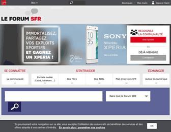 forum.sfr.fr screenshot