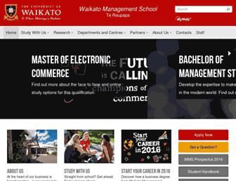 mngt.waikato.ac.nz screenshot