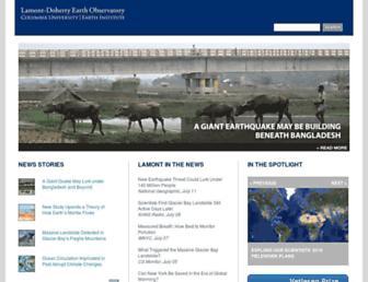 Main page screenshot of ldeo.columbia.edu