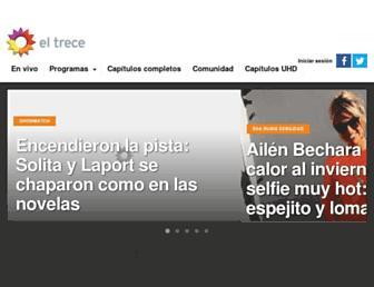 eltrecetv.com.ar screenshot