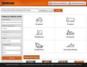 Main page screenshot of mascus.si