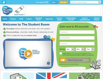 Main page screenshot of thestudentroom.co.uk
