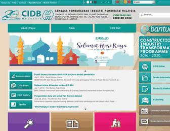 Thumbshot of Cidb.gov.my