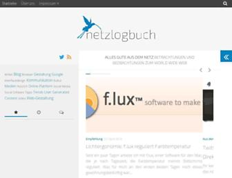 Main page screenshot of netzlogbuch.de