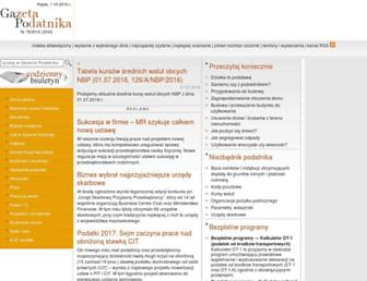 Main page screenshot of gazetapodatnika.pl