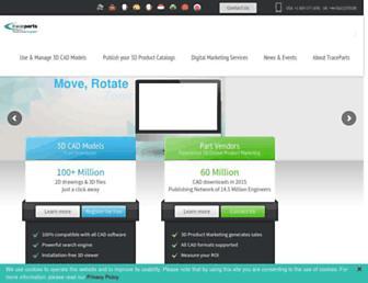 traceparts.com screenshot