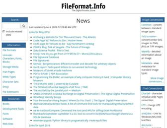 Thumbshot of Fileformat.info