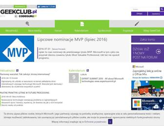 Main page screenshot of codeguru.pl