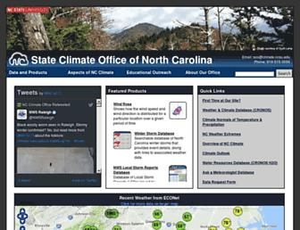 Main page screenshot of nc-climate.ncsu.edu