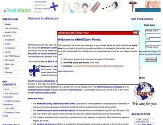 emediclaim.com screenshot