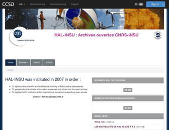 hal-insu.archives-ouvertes.fr screenshot