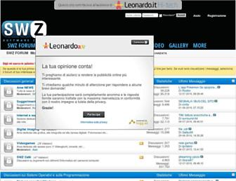 Main page screenshot of forum.swzone.it