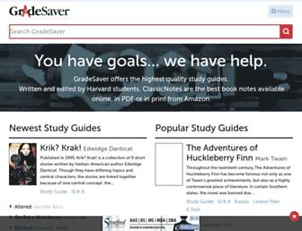 gradesaver.com screenshot