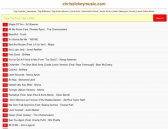 chrisdickeymusic.com screenshot