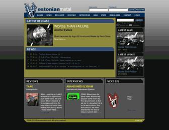 estonianmetal.com screenshot