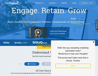 Thumbshot of Webengage.com
