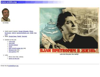 Main page screenshot of snible.org