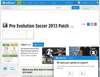 pro-evolution-soccer-2013-patch.en.softonic.com screenshot
